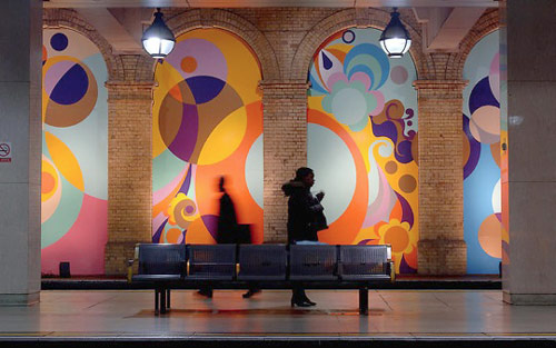 Peace and Love, 2005 / Gloucester Road Station / Project Platform for Art Underground, London, UK